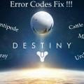Codes erreurs Destiny