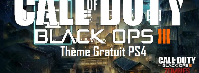 Call of Duty III : Un Thème Gratuit pour PS4