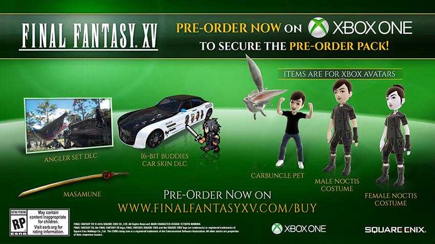 Final Fantasy XV Bonus de précommande digital Xbox one