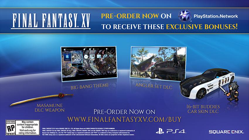 Final Fantasy XV Bonus de précommande digital
