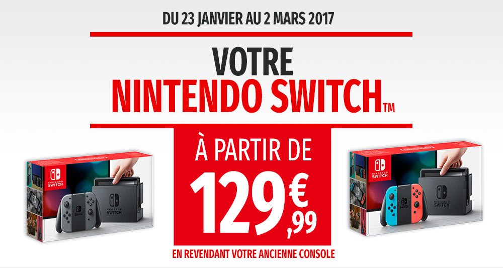 À l\u0027occasion de la sortie de la Nintendo Switch, Micromania a décidé de  proposer des offres exclusives à ses clients afin de pouvoir se procurer la  nouvelle
